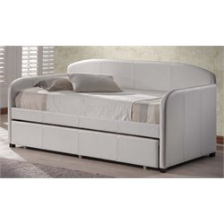 Merch-1188 Faux Leather Daybed in White