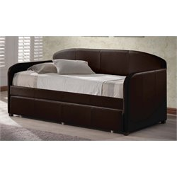 Merch-1188 Faux Leather Daybed in Brown
