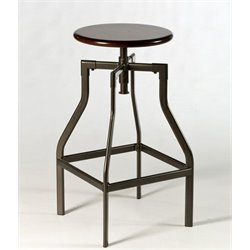 Atlin Designs Backless Adjustable Bar Stool in Cherry