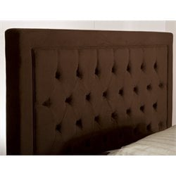 Merch-1188 Atlin Designs Tufted Panel Headboard in Chocolate-RH