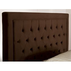 Merch-1188 Atlin Designs Tufted Panel Headboard in Chocolate-RG
