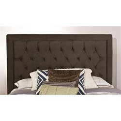 Merch-1188 Atlin Designs Tufted Panel Headboard in Pewter-FJ