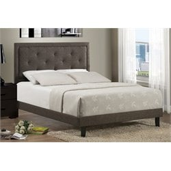 Merch-1188 Atlin Designs Upholstered Panel Bed in Black