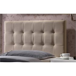 Merch-1188 Atlin Designs Upholstered Tufted Panel Headboard in Beige-e