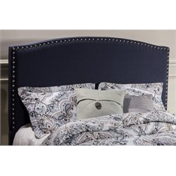 Merch-1188 Atlin Designs Upholstered Panel Headboard in Navy Linen