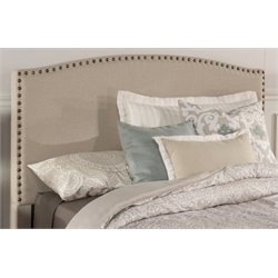 Merch-1188 Atlin Designs Upholstered Panel Headboard in Light Taupe