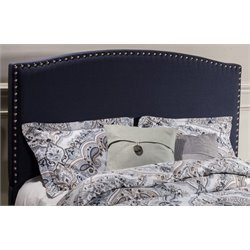 Merch-1188 Panel Headboard in Navy Linen-D