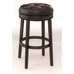 Merch-1188 Faux Leather Swivel Counter Stool in Gray-A