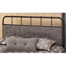 Merch-1188 Upholstered Spindle Panel Headboard in Black-L