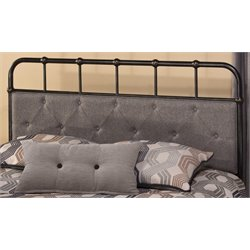 Merch-1188 Spindle Panel Headboard in Black-R