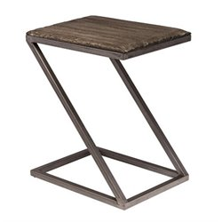 Merch-1188 End Table in Washed Charcoal Gray