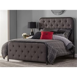 Merch-1188 Atlin Panel Bed in Black-W