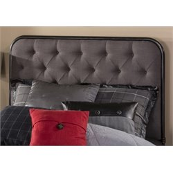 Merch-1188 Upholstered Tufted Panel Headboard in Black-V