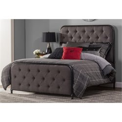 Merch-1188 Atlin Designs Upholstered Panel Bed in Black-X