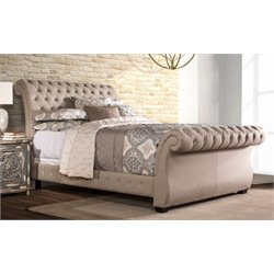 Merch-1188 Atlin Designs Upholstered Sleigh Bed in Linen Stone