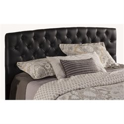 Merch-1188 Tufted Queen Headboard in Black-SH