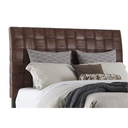 Merch-1188 Atlin Designs Upholstered Headboard in Light Brown-AK