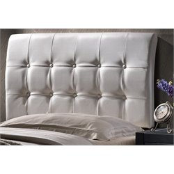 Merch-1188 Atlin Designs Tufted Panal Headboard in White-HG