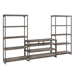 Atlin Designs 3 Piece Entertainment Center in Gray
