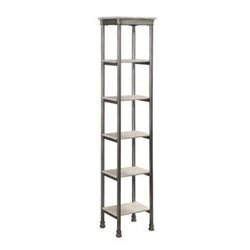Atlin Designs 5 Shelf Tower Bookcase in Gray and Marble