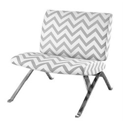 Merch-1188 Chevron Fabric Accent Chair with Chrome Metal