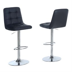 Merch-1188 Faux Leather Adjustable Swivel Bar Stool-BW
