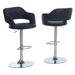 Merch-1188 Adjustable Faux Leather Swivel Bar Stool