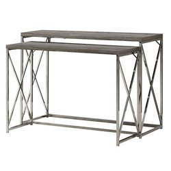 Atlin Designs 2 Piece Nesting Table Set in Chrome