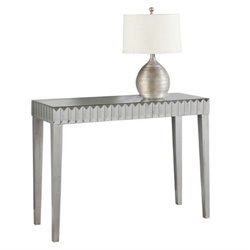 Atlin Designs Mirrored Console Table in Brushed Silver