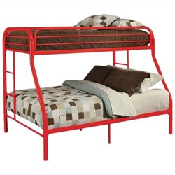 Rosebery Kids Twin Over Full Bunk Bed in Red
