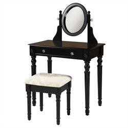 Rosebery Kids 2 Piece Vanity Set in Black