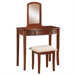 Rosebery Kids 2 Piece Vanity Set in Cherry
