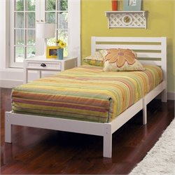 Rosebery Kids Twin Platform Bed in White