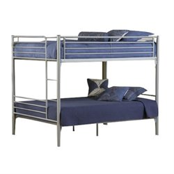 Rosebery Kids Metal Bunk Bed in Silver
