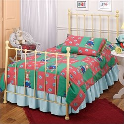 Rosebery Kids Twin Metal Bed in Yellow