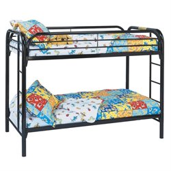 Rosebery Kids Metal Bunk Bed in Black