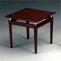 Mayline Napoli Square End Table in Sierra Cherry