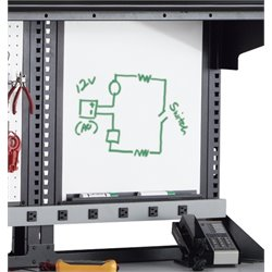 Mayline Techworks Whiteboard in Black
