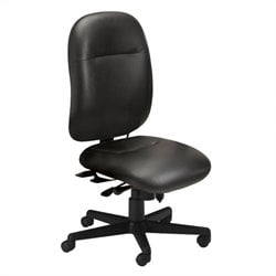 Mayline Comfort 24-Hour High Performance Multi Function Office Chair in Black