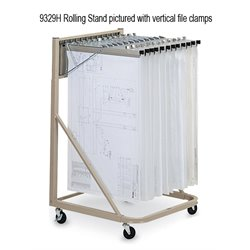 Mayline Rolling Stand with 12 Hangers and Clamps