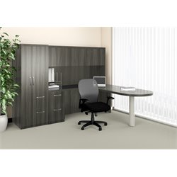Mayline Aberdeen Typical 22 Computer Desk in Gray Steel Laminate