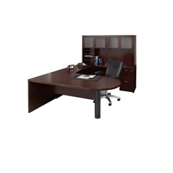 Mayline Mira Typical 15 Computer Desk in Espresso Veneer