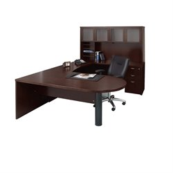 Mayline Mira Typical 16 Computer Desk in Espresso Veneer