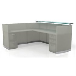 Mayline Medina Reception Station in Textured Sea Salt Laminate (1 B/B/F 1 F/F/P)