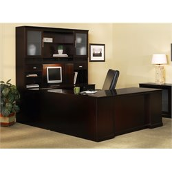 Mayline Sorrento Typical 3 Computer Desk in Espresso Veneer