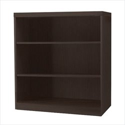 Mayline Aberdeen 3 Shelf Bookcase in Mocha