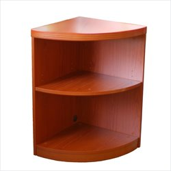 Mayline Aberdeen 2 Shelf Quarter Round Bookcase
