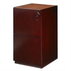 Mayline Luminary 2 Drawer Vertical Wood File Pedestal for Credenza