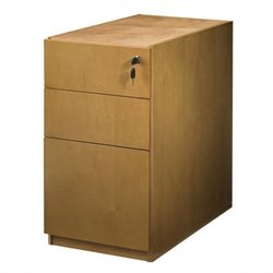 Mayline Luminary 3 Drawer Pedestal File for Credenza in Maple Finish