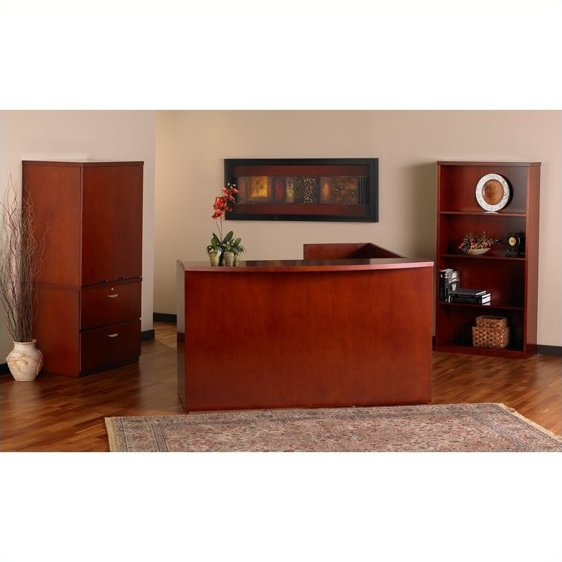 Mayline Mira Reception Station in Medium Cherry